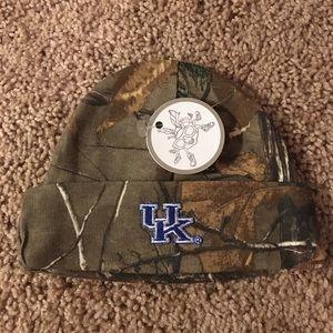 NWT: Camouflage University of Kentucky hat.